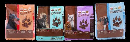 выбор кормов для собак дилли